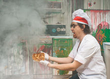 Funny baker Stock Photography