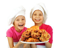 Funny bakers Stock Photography