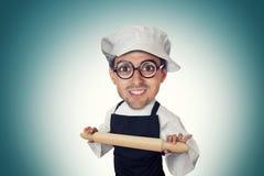 Funny bakery man Stock Image