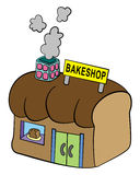 Funny bakeshop Stock Photo