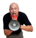 Funny bald man Stock Images