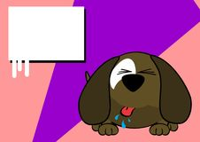 Funny ball puppy cartoon expression background Royalty Free Stock Images
