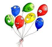 Funny balloons Royalty Free Stock Photos