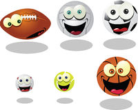 Funny Balls Royalty Free Stock Photos