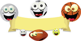 Funny Balls Banner Royalty Free Stock Photography