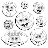 Funny balls(Coloring) Royalty Free Stock Images