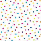 Funny balls over white seamless pattern. Stock Images