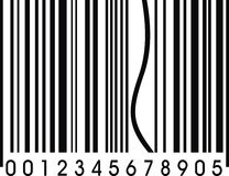 Funny barcode with one error Royalty Free Stock Image