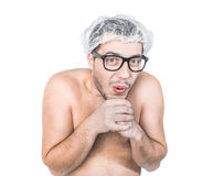 Funny bare man Royalty Free Stock Images