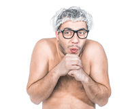 Funny bare man Royalty Free Stock Photography