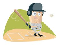 Funny baseball batter is ready for the ball. Clipart of a funny baseball batter who is ready for the ball vector illustration