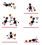 Funny Basket Player Stock Photos