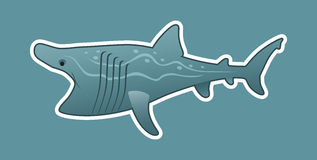 Funny basking shark Stock Photo