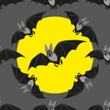 Funny bat on black background Royalty Free Stock Photography