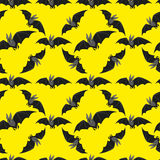 Funny bat on black background Stock Images