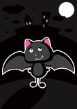 Funny bat in the night Stock Photo
