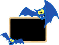 Funny bats blackboard Royalty Free Stock Photo