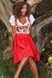 Funny Bavarian girl Stock Photography