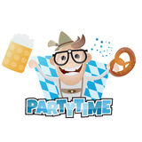 Funny bavarian party man Royalty Free Stock Image