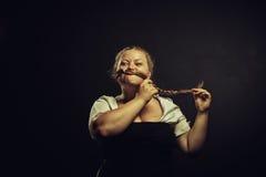Funny bavarian woman Royalty Free Stock Image