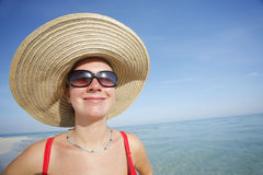 Funny Beach Face stock image