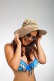 Funny beach girl Stock Image