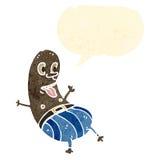 funny bean shaped man cartoon Royalty Free Stock Images