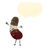 funny bean shaped man cartoon Stock Photo