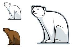 Funny bear. Funny cartoon bear isolated on white for mascot design Stock Photo