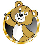 Funny bear. Vector color illustration Stock Photo