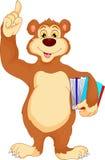 Funny bear cartoon holding books Royalty Free Stock Photography