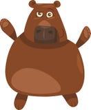 Funny bear cartoon illustration Stock Photos