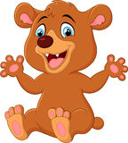 Funny Bear cartoon Stock Photography