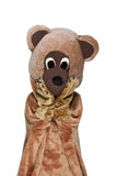 Funny bear costume Royalty Free Stock Photos
