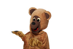 Funny bear costume Royalty Free Stock Images
