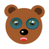 Funny bear illustration Stock Photography