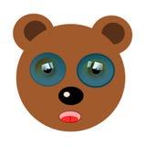 Funny bear illustration. Vector illustration of a funny bear head Stock Photography