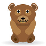 Funny bear on a white background.  Royalty Free Stock Photos