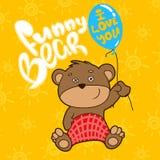Funny bear whith ballon Vector illustration. Funny bear whith ballon. Vector illustration Royalty Free Stock Image