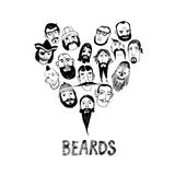 Funny beards illustration Royalty Free Stock Images