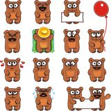 Funny bears (2). 15 smiley bears individually grouped for easy copy-n-paste. Vector Stock Photos
