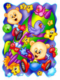 Funny bears royalty free illustration