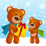 Funny bears Royalty Free Stock Image