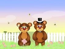 Funny bears Stock Photography