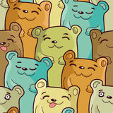 Funny bears - seamless  pattern Royalty Free Stock Photos