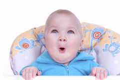Funny beautiful baby boy Stock Images