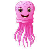 Funny and beautiful jellyfish Stock Image