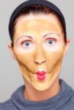 Funny beauty treatment Royalty Free Stock Image