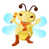 Funny Bee Royalty Free Stock Image