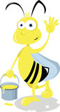 Funny Bee Stock Photo
